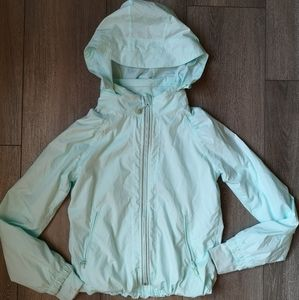 Ivivva turquoise windbreak jacket